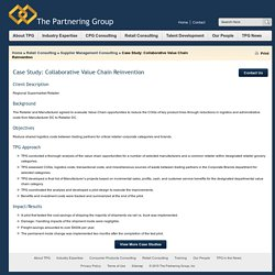 Case Study: Collaborative Value Chain Reinvention « The Partnering Group