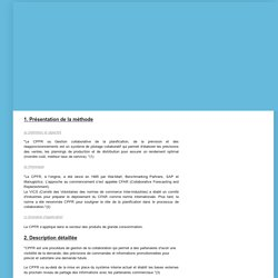 Méthodes de Supply Chain ISMAG: CPFR(Collaborative Planning Forecasting and Replenishment)