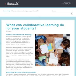 What can collaborative learning do for your students? - ResourcEd