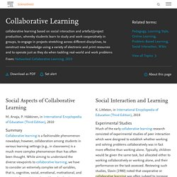 Collaborative Learning - an overview