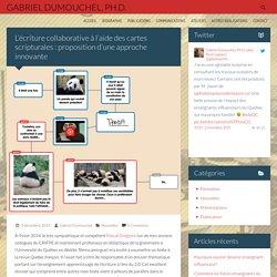 L'écriture collaborative à l'aide des cartes scripturales : proposition d'une approche innovante
