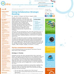 Using Collaborative Strategic Reading