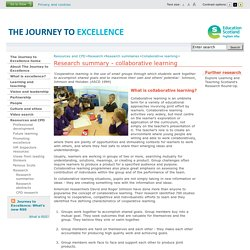 READING - Collaborative learning - Research summaries