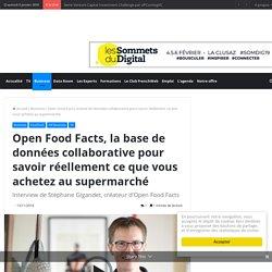 FRENCHWEB 13/11/18 Open Food Facts, la base de données collaborative pour savoir réellement ce que vous achetez au supermarché