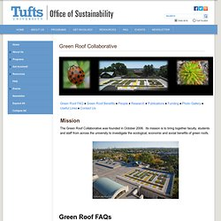 Green Roof Collaborative - Office of Sustainability - Tufts University