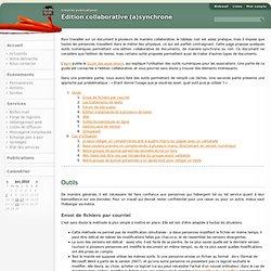 Édition collaborative (a)synchrone