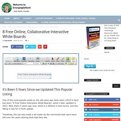 8 Free Online, Collaborative Interactive White Boards