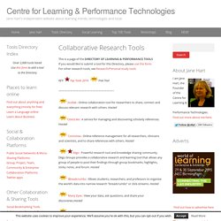 12 Collaborative Research Tools