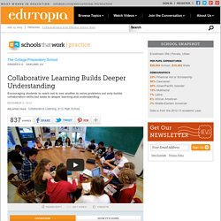 Collaborative Learning Builds Deeper Understanding