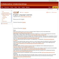 English Language Learners - Collaborative Understandings