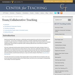 Team/Collaborative Teaching