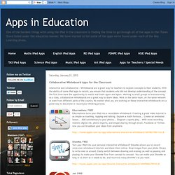 Collaborative Whiteboard Apps for the Classroom