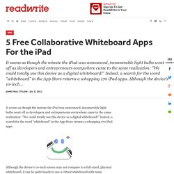 5 Free Collaborative Whiteboard Apps For the iPad