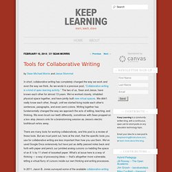 Tools for Collaborative Writing