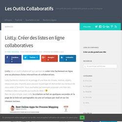 ListLy. Créer des listes en ligne collaboratives - Les Outils Collaboratifs