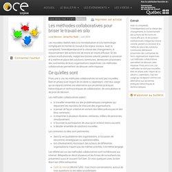Les méthodes collaboratives pour briser le travail en silo - OCE - L'Observatoire compétences-emplois