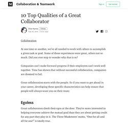 10 Top Qualities of a Great Collaborator - Collaboration & Teamwork - Medium