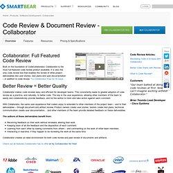 Commercial Smart Bear Collaborator Code Reviews & Code Analysis - Collaborator