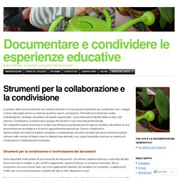 Documentare e condividere le esperienze educative