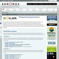 COLLADA - Digital Asset Exchange Schema for Interactive 3D