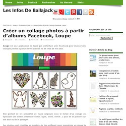 Créer un collage photos à partir d'albums Facebook, Loupe