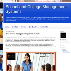School and Collage Management Systems: Best School Management Systems in India