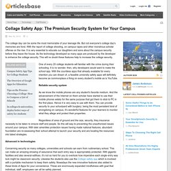 Collage Safety App: The Premium Security System for Your Campus