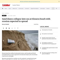 Sand dunes collapse into sea at Elouera beach with erosion expected to spread