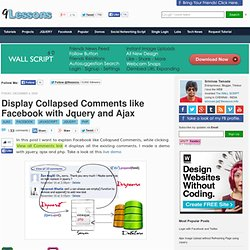 Display Collapsed Comments like Facebook with Jquery and Ajax