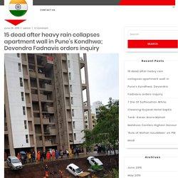 15 dead after heavy rain collapses apartment wall in Pune's Kondhwa; Devendra Fadnavis orders inquiry