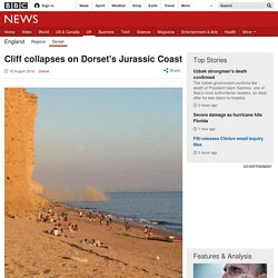 Cliff collapses on Dorset's Jurassic Coast