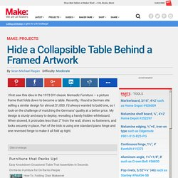 Hide a Collapsible Table Behind a Framed Artwork