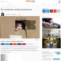 DIY Collapsible Cardboard Playhouse