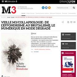 Veille M3/Collapsologie : De l'effondrisme au brutalisme, le numérique en mode dégradé