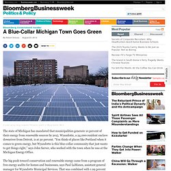 A Blue-Collar Michigan Town Goes Green
