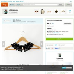 Black Lace Collar Neklace by callmemimi on Etsy