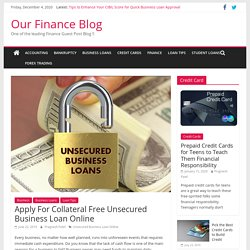 Apply For Collateral Free Unsecured Business Loan Online