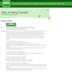 P/Time Store Colleague 16hr contract must be fully flexible weekends,morning,evenings upto 40 hours – Bletchley, Buckinghamshire - Pets At Home
