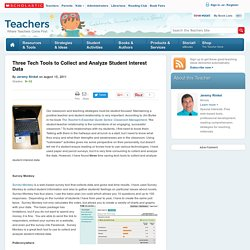 Three Tech Tools to Collect and Analyze Student Interest Data