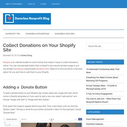 Collect Donations on Your Shopify Site