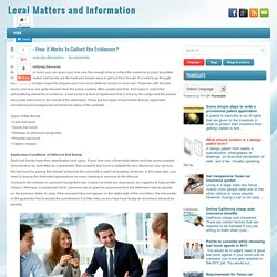 Bail Bonds- How it Works to Collect the Evidences? ~ Legal Matters and Information
