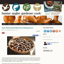 How to Collect, Process and Store Acorns and Acorn Flour