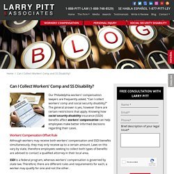 Can I Collect Workers' Comp and SS Disability?