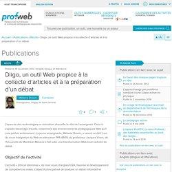 Diigo, un outil Web propice à la collecte d'articles et à la préparation d'un débat