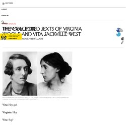 The Collected Sexts of Virginia Woolf and Vita Sackville-West
