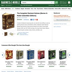 The Complete Sherlock Holmes (Barnes & Noble Collectible Editions) by Arthur Conan Doyle