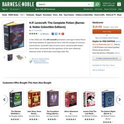 H.P. Lovecraft: The Complete Fiction (Barnes & Noble Collectible Editions) by H. P. Lovecraft