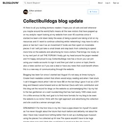 Collectibulldogs blog update