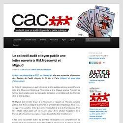 Lettre ouverte à MM. Moscovici et Migaud « Pour un véritable audit de la dette et des finances publiques ! »