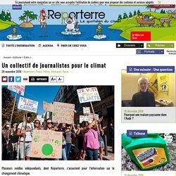 Un collectif de journalistes pour le climat